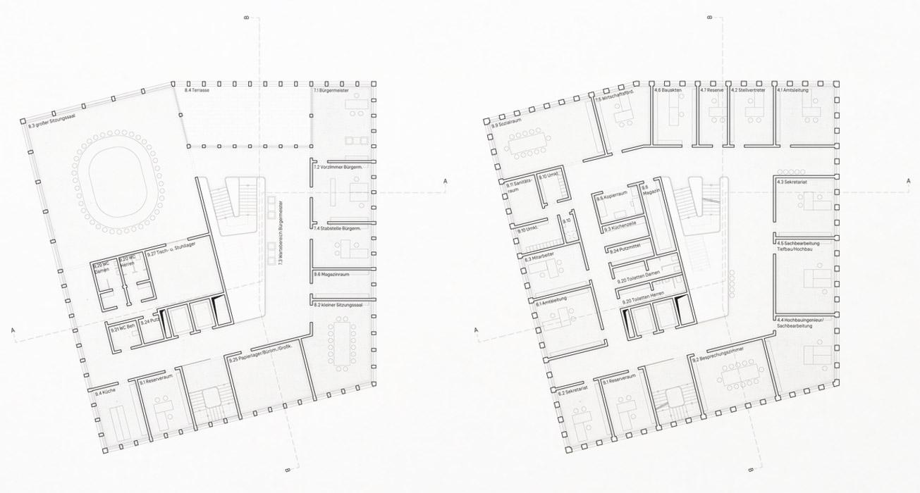 KO-OK_Architektur_Leipzig_Stuttgart_Wettbewerb_Rathaus-Salem_Grundriss-Bsp-Obergeschosse