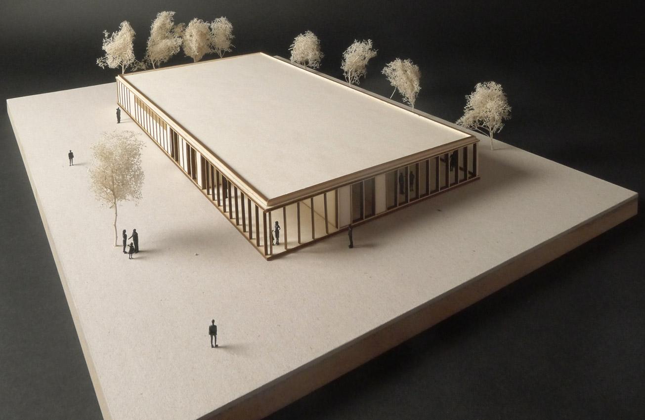 KO-OK_Architektur_Leipzig_Stuttgart_Wettbewerb_erster-Preis_Sportgebäude-Kegelbahn_Wülknitz_Modell_1